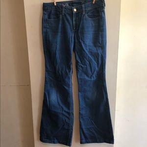 J.Crew High Heel Flare Blue Jeans